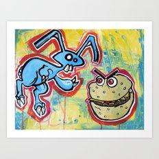 Bunny Burgers Art Print