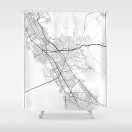 Minimal City Maps - Map Of Hayward, California, United States Shower Curtain