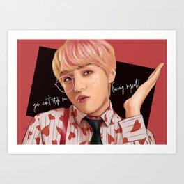BTS V IDOL FANART Art Print