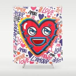LOVE BEAT Shower Curtain