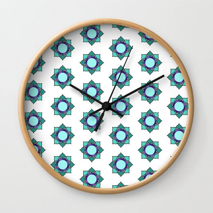 Mandala patern big white Wall Clock