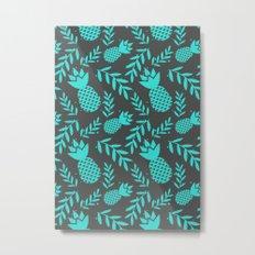 pineapple 210 Metal Print