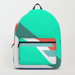 Neon Grapefruit and Electric Mint Shapes Backpack