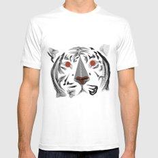 Moirè Tiger Mens Fitted Tee White MEDIUM