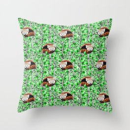 Red panda's in tree's Throw Pillow