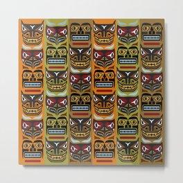 Totem Poles and Tiki Heads Metal Print