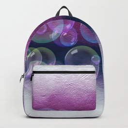 Abstract Purple Bubble Art Backpack