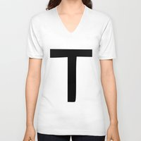 true blood V-neck T-shirts featuring T is for True Blood by Blank & Vøid