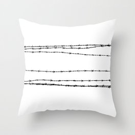 Barb wire 2 Throw Pillow