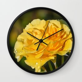 Sparkle & Shine Rose Wall Clock
