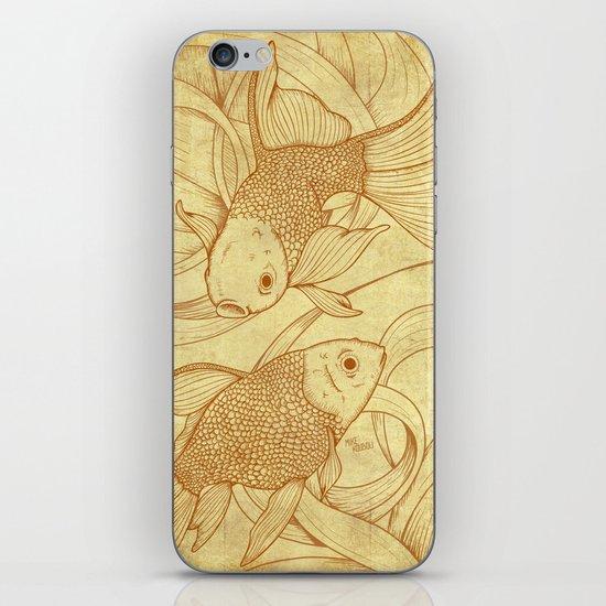 Vintage Goldfishes  iPhone & iPod Skin