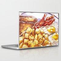 breakfast Laptop & iPad Skins featuring Breakfast by heatherinasuitcase