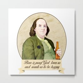 BEN AND BEER Metal Print