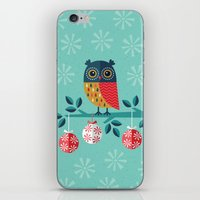 marina and the diamonds iPhone & iPod Skins featuring WOOHOO IT'S CHRISTMAS! by Daisy Beatrice
