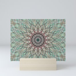 Scared Geometry, Geometric Flower - c15710 Mini Art Print