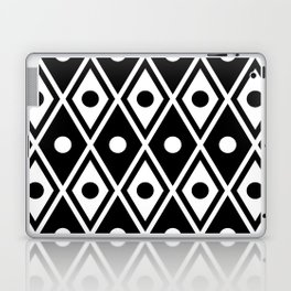 Harlequin Pattern Black & White Laptop & iPad Skin