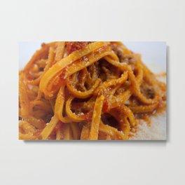 Fettuccine Bolognese Metal Print