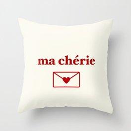 ma cherie, my sweetheart Throw Pillow