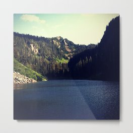 Deep blue mountain lake Metal Print