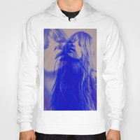 kate moss Hoodies featuring double Kate blues (kate moss) by Kiki collagist