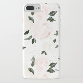 vintage blush floral iPhone Case