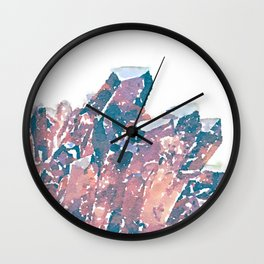 Chocolate Crystal  Wall Clock