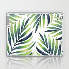 Tropical leaves. White pattern Laptop & iPad Skin