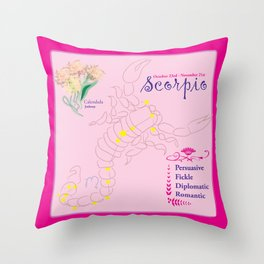 Scorpio October Throw Pillow