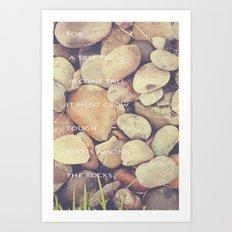 Rocks with words Art Print