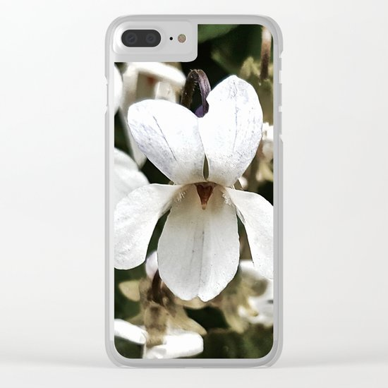 Wild White Violet; Take A Chance On Happiness Clear iPhone Case