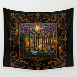 Halloween art The Headless Horseman of Hudson Valley Wall Tapestry