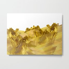 """Gold brushstrokes"" Metal Print"