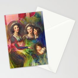 Rainbow Silks Stationery Cards
