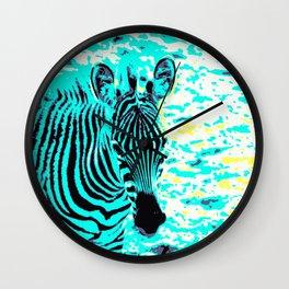 Pop Art Zebra 1 Wall Clock