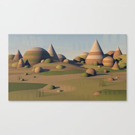Geometric Landscape Canvas Print