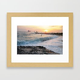Evening at the Harbour Framed Art Print