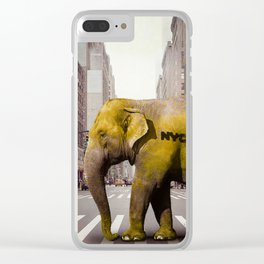 Elephant Taxi NYC Clear iPhone Case