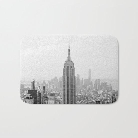 Black and White Empire State Building Manhattan New York Bath Mat