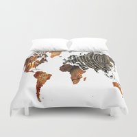 tree rings Duvet Covers featuring Tree Rings  by VRose