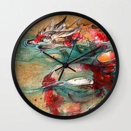 DRAGON KOI Wall Clock