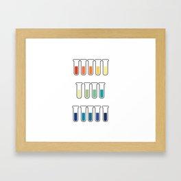 pH Indicators Framed Art Print