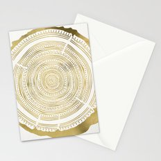 Douglas Fir – Gold Tree Rings Stationery Cards