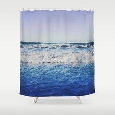 Indigo Waves Shower Curtain
