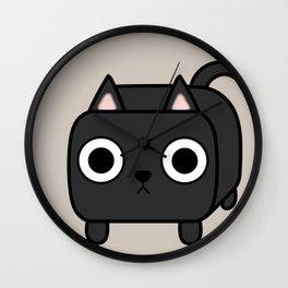 Cat Loaf - Black Kitty Wall Clock