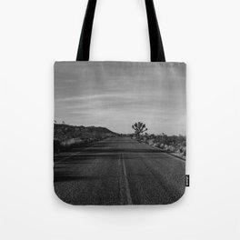 Monochrome Joshua Tree Road Tote Bag