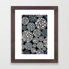 Snow flowers. Framed Art Print