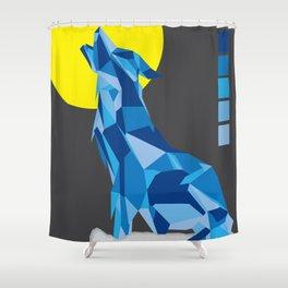 Geo Wolf Shower Curtain