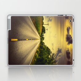 Louisiana Highway 82, an ample opportunity to see gators crossing the road Laptop & iPad Skin