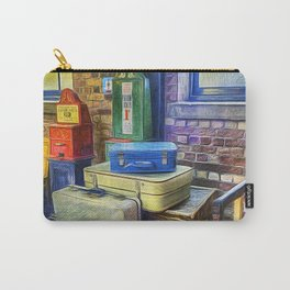 Vintage Luggage Carry-All Pouch