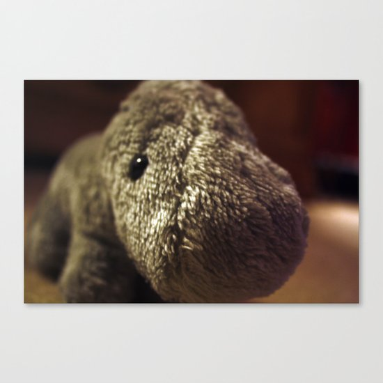 Stuffed Hippo Canvas Print